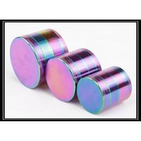 Wholesale Factory mm mm mm Parts Rainbow Grinder Tobacco Zinc Alloy Grinders For Smoking Herbal Grinders B