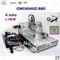 Wholesale 4 Axis CNC Z S80 CNC router milling machine with KW VFD spindle for hard material