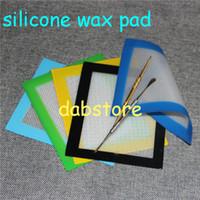 Wholesale big small sizes non stick silicone pad silicone baking mat nonstick green color silicone dab mat