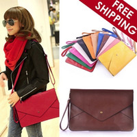 Wholesale Female fashion simple envelopes New Hand Bag Satchel Bag retro casual bag Style color style accessories