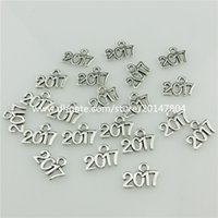 american year - 20620 Vintage Silver Alloy New Year Number Pendant Jewelry Findings