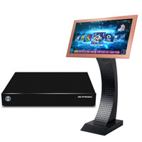 Wholesale HD HYNUDAL Professional HDD Karaoke Machine Home KTV Player TB HDD Player with K Songs Touch Screen Wireless Mic