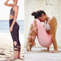 ballet leggings - New Fashion Woman Yoga Fitness Pants GYM Dance Ballet Tie Wrap Bandage ActiveTight Winding Leggings Trousers colors