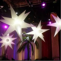 Wholesale festival and party inflatable remote LED colorful decorations inflatable star colorful light lovely decoration toys Inflatable light pillars