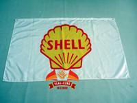 Wholesale Shell oil flag X150CM size polyester flag king