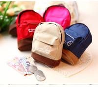 Wholesale Cute Bear Coin Purses Canvas Mini Backpack Fashion Key Holder Kids Coin Pouch Small Gift Hot Sale Zipper Change Purses