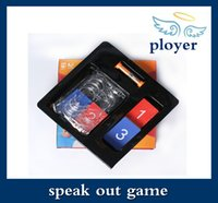 Wholesale 2016 new Speak Out Game KTV party game cards for party Christmas gift newest best selling toy A106 Free DHL Shipping
