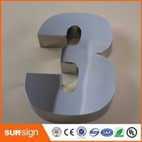 Wholesale 0 Modern House Numbers Stainless Steel Number Digits Door Letters Room Gate Number New