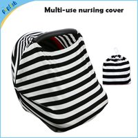 baby infant car seat covers - 4 in Multi Function Fashion Blend Kniting Stripe Baby Nursing Canopy Infant Stretchy Car Seat Cover
