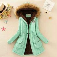 Wholesale 2016 Women s Winter Hooded Down Coat Jackets Women Thicken Warm Winter Fur Collar Plus Size Parkas for Women Long Down Parka