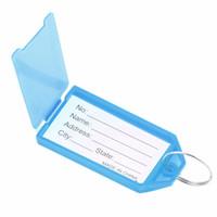 Wholesale 1 x Plastic Key Tags Key Rings ID Identity Tags Rack Name Card Label NEW