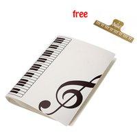Bolsillos más vendidos hoja de música carpeta de archivos de hoja de música titular de plástico A4 tamaño 40 bolsillos - blanco