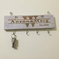 Wholesale Custom Key Holder Storage Holders Racks Personalized Key Holder Key Rack Custom Home Decor Home Storage Rack