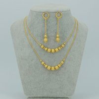 Wholesale Beads Jewelry sets Necklace and Earrings for Women Ball Necklaces Africa Wedding Ethiopian Jewelry Party Gifts