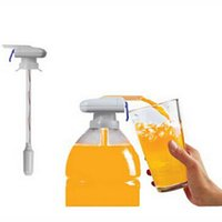 Wholesale The Magic Tap Creative Beverage Drink Dispenser Electric Automatic Drinking Straw Fruit Juice Coke Milk Drinks Suck Tools