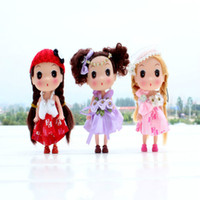 Wholesale The mini confused dolls cute little doll creative key pendant Christmas New Year birthday gift bag key Other places can hang