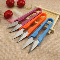 Wholesale Small Scissors with plastic handle U shape small scissors for yarn home tools wholesales