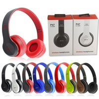 apple hands free headphones - P47 Bluetooth Headphone Wireless Headband Earphone Hands Free Music Headset With MF TF for Apple Samsung HTC LG Mobile Phone