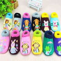 baby socks box set - 2016 Cartoon child baby pure cotton socks anti skid floor socks set across the cool summer baby socks