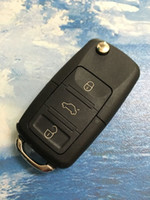 Wholesale Car Folding Remote Key Shell Case Replacement Buttons for Volkswagen VW Passat Tiguan Polo Golf Keys