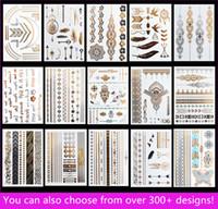 venda por atacado metallic tattoo jewelry-15pcs / lot temporária impermeável Flash tatuagens não tóxicos tatuagem metálico quente venda mulheres tatuagem jóias e corpo tatuagem!