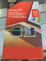 Wholesale Hot GB Cruzer Fit CZ33 Mini USB Flash Drives Pen Drives Perfect fit for Notenooks Tablet TVs PC and Car Audio