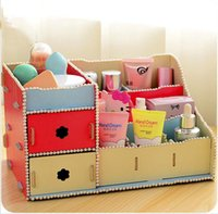 Wholesale Receive a large cosmetics box plastic drawer storage box dresser desktop receive a case storage box
