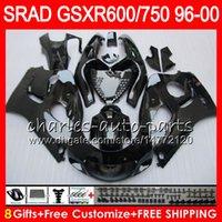 Precio de Suzuki gsxr750 fairing-Brillo negro 8 Regalos 23 Colores Para SUZUKI SRAD GSXR750 GSXR600 96 97 98 99 00 5HM10 GSX R600 GSXR 600 750 1996 1997 1998 1999 2000 Carenado