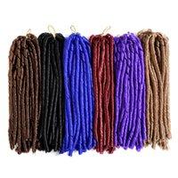 Precio de Rastas tejen-14 inch 70g / pack falso locs crochet el pelo negro de los dreadlocks El pelo sintético de la trenza del ganchillo La Habana Mambo Faux Locs que teje
