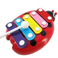 Wholesale Novel Lovely Musical Baby Child Kid Note Xylophone Musical instruments Toys Wisdom Development clever Educational New beetle piano
