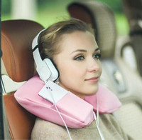 Wholesale New Inflatable U Soft Flight Travel Car Head Neck Rest Compact Travel Flight Car Pillow Inflatable Pillow Neck U Air Cushion Phone Pocket
