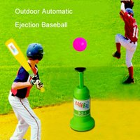 Wholesale new outdoor games kids outdoor automatic ejection baseball Toys sports intelligence children s outdoor toys Parent child toys Sports Toys