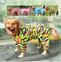 Wholesale Large Dog Camouflage Raincoat Pet Jumpsuit Dog Raincoat Clothes Appreal for Labrador German Shepherd Golden Retreiver Samoyed
