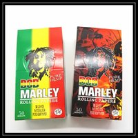 Cheap USA Best Selling Bob Marley Rolling Papers 78mm*44mm 50 Booklets Box 32 Leaves Pure Natural Gum Hemp Smoking Paper 1 1 4 Size