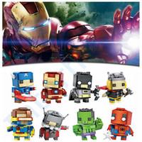 Wholesale Avengers Building Blocks Captain America Batman DIY Bricks Spider Man Iron Man Minifigure Blocks Hulk LOZ Mini Toys Kids Christmas Gift F12