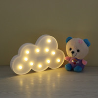 No battery led light with switch - 3D Marquee Cloud Cute Night Light with LEDs and Battery Operated Cloud Shape Letter Light for Holiday Decoration Kid s Gift