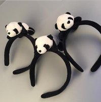 Plush band dolls - Cute Baby Girl Lovely Plush Panda Doll Hair Band Stick Fashion Hair Decoration Accessories Best Gift For Christmas A001