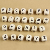 Wholesale 1 cm Letter Cube WOODEN SCRABBLE TILES BLACK LETTERS NUMBERS FOR CRAFTS WOOD ALPHABETS Learning Toys