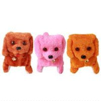 Wholesale 2016 Hot Selling New Fashion Walking Barking Toy High Quality Funny Electric Short Floss Dog Toys Electric Dog Moving Dog
