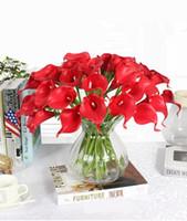5 цветов Урожай искусственных цветов 9 шт / много Мини-фиолетовый в белых букетах лилии Кале для свадебного оформления букета свадебных поддельных цветов