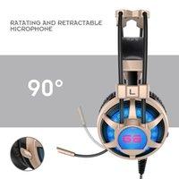 Ortable Audio Video Casque d'écoute Casque professionnel G6 casque avec microphone casque de jeu 3,5 mm stéréo auriculares ...