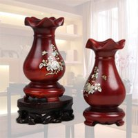 Wholesale The new Chinese wind padauk classical vase Wooden Chinese vase Classical solid wood vases