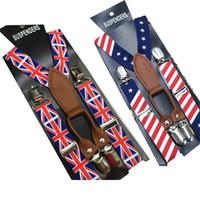 baby fashion uk - kid s Suspender children USA flag Clip on UK Braces baby boy s Elastic Suspender Y Back Suspenders clips