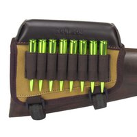 Wholesale Tourbon Hunting Gun Accessories Rifle Gun Buttstock Cheek Rest Riser Pad Canvas With Ammo Cartridges Holder