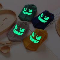 Wholesale Novelty Funny Kids Geek Emoji Fluorescent Socks Christmas Gift Student Cotton Seamless Slipper Sock