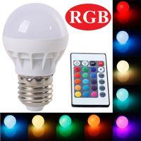 Wholesale RGB LED Lamp E27 W LED Bulb RGB Soptlight V Energy Saving Color Change LED Lampara With IR Remote Brand NEW