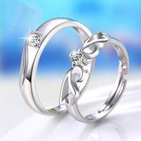 Wholesale Silver ornament ring couples buddhist monastic discipline creative Japan and South Korea version of angel wings of men and women to marry