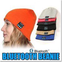 Wholesale Wireless Bluetooth Beanie Hat Christmas Gifts Warm Hat Wireless Gym Headphones Stereo Music Headset Spearker Mic Hat Handfree