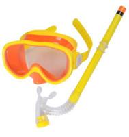 Les nouveaux hommes et les femmes de natation des lunettes de natation miroir costume un tube de respiration demi-snorkeling lunettes de natation