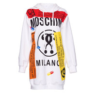 Wholesale Printing long sleeve in the European and American graffiti long sets hooded fleece female easy tide lady s fleece